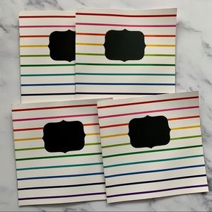 4 Blank Books With Colored Paper Chalkboard Label